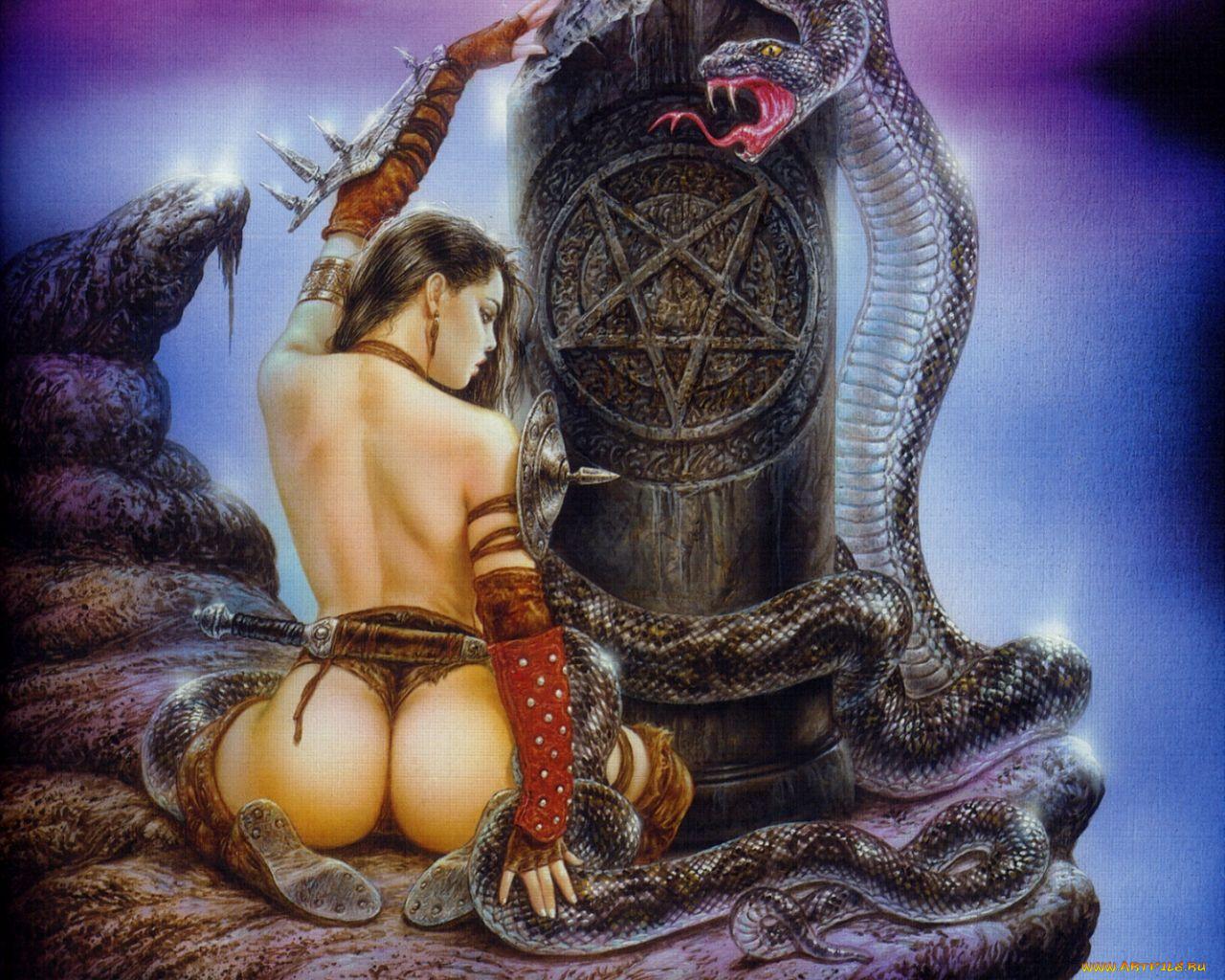 Abstract fantasy erotic art naked tube